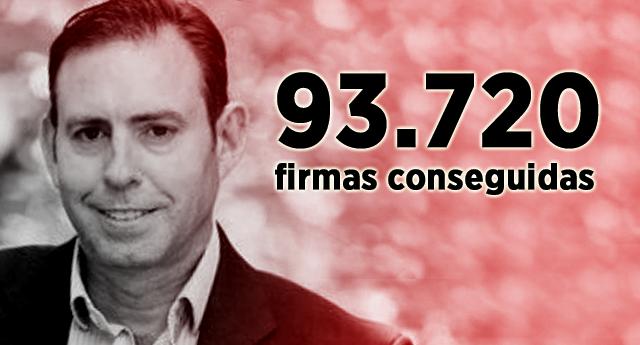 ¡Conseguido! el alcalde Jun logra 93.720 firmas para forzar un Congreso Extraordinario de PSOE