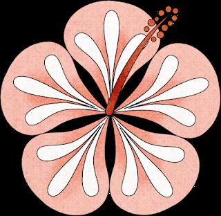 Flores del Clipart de Chicas en Luau.