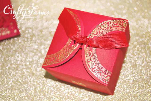 Double Happiness Red Wedding Door Gift Boxes