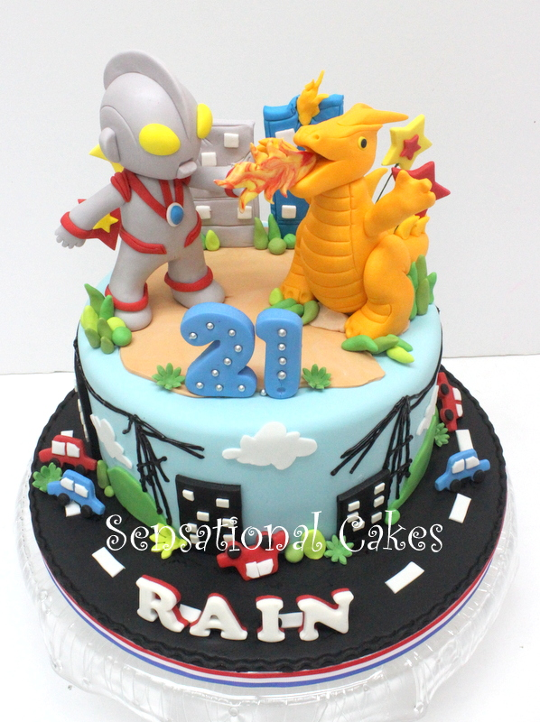 The Sensational Cakes ULTRAMAN 3D CAKE SINGAPORE ULTRAMAN BOYS