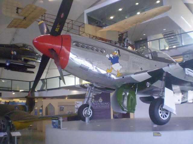 A Mustang inside the museum