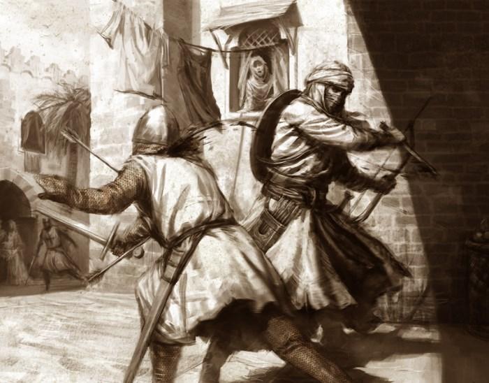 Templar melawan Hashashin pada masa perang salib