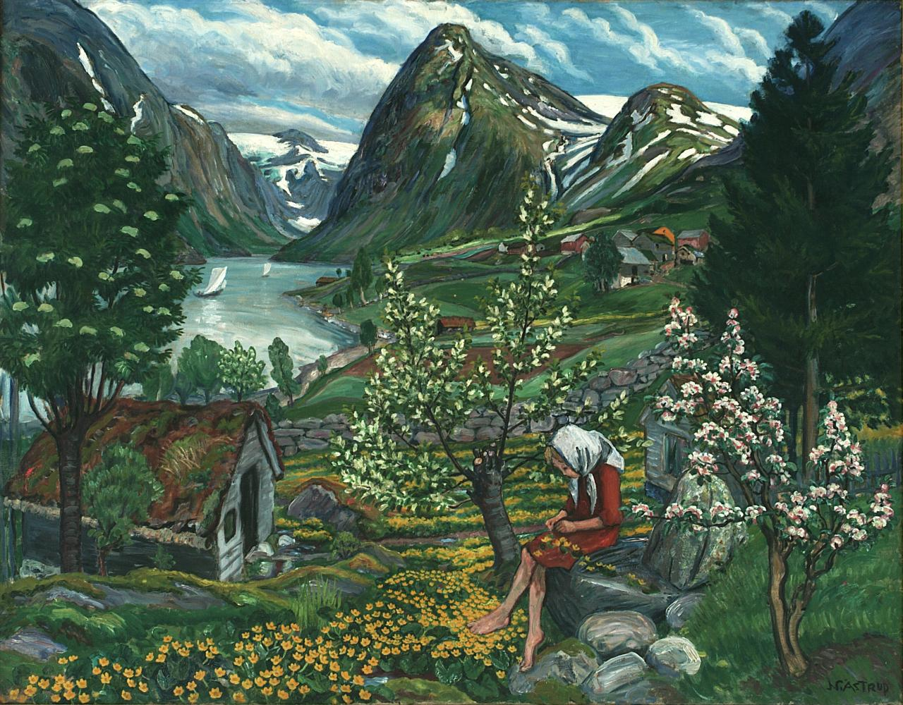 'Kari: Motif from Sunde.' Image: Courtesy of Nikolai-Astrup.no. Unauthorized use is prohibited.