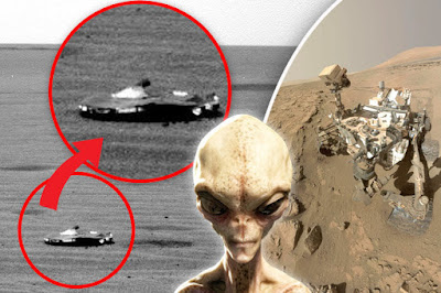 NASA has been snapping UFOs on Mars for a long time.