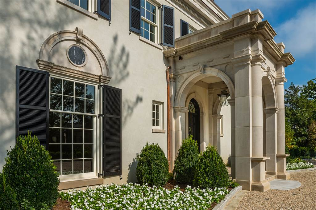 Washington DC luxury mansion Kalorama regency style limestone
