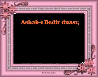 ashabi bedir duasi