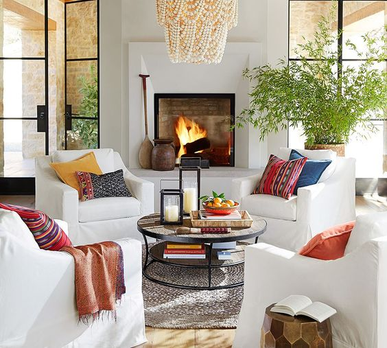 Eye for design decorating with sofaless seating arrangements for 4 chair living room arrangement