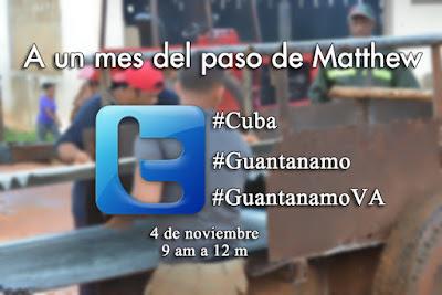 A un mes del paso de Mattew por #Cuba #GuantanamoVA
