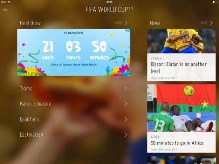 Jadwal Piala Dunia 2014 Gratis di iPhone dan iPad