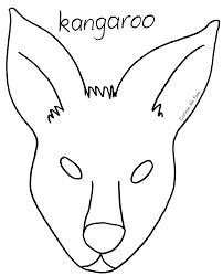 early play templates: Templates of kangaroo masks