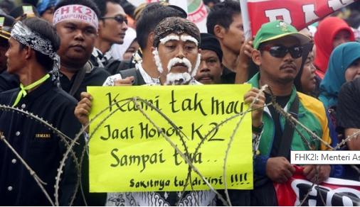 Ribuan Honorer K2 Kecewa Berat Akan Melakukan Aksi Lebih Besar Lagi
