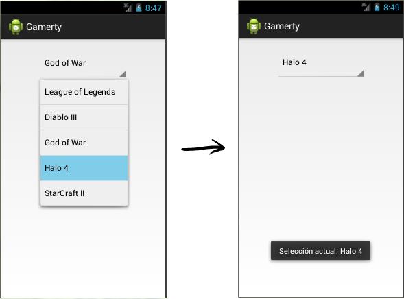 Aplicación Android con un Spinner