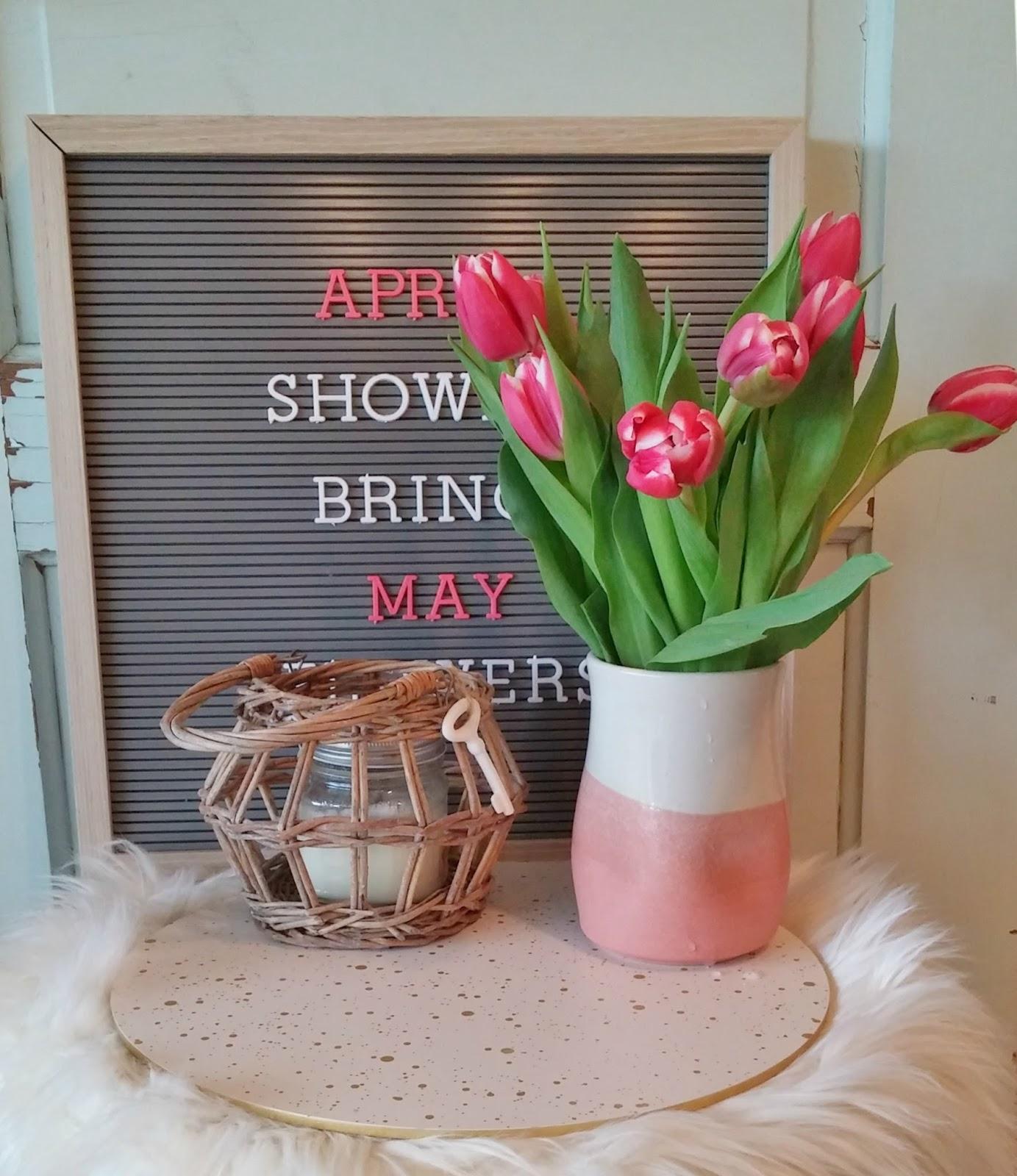 Spring letter board