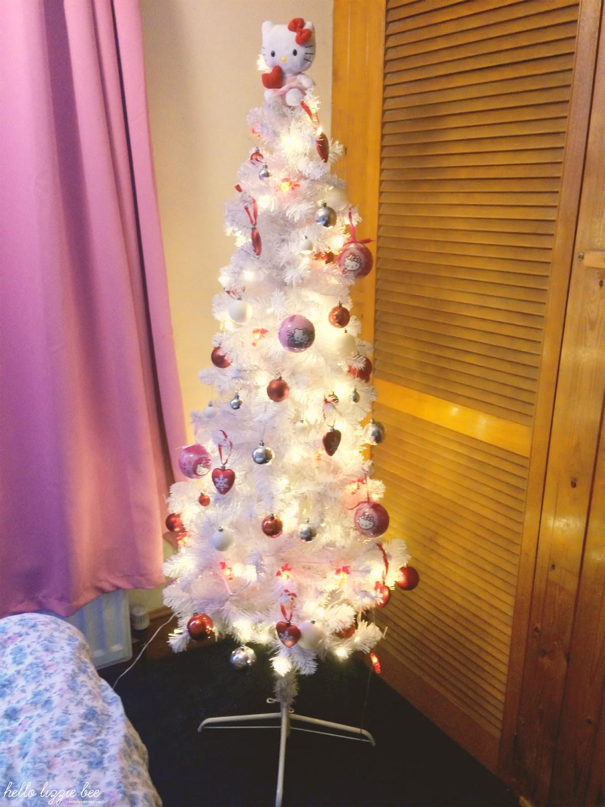 hello kitty, sanrio, christmas tree, kawaii christmas tree