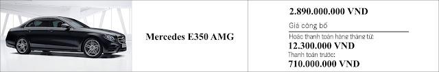 Giá xe Mercedes E350 AMG 2019 tại thị trường Việt Nam