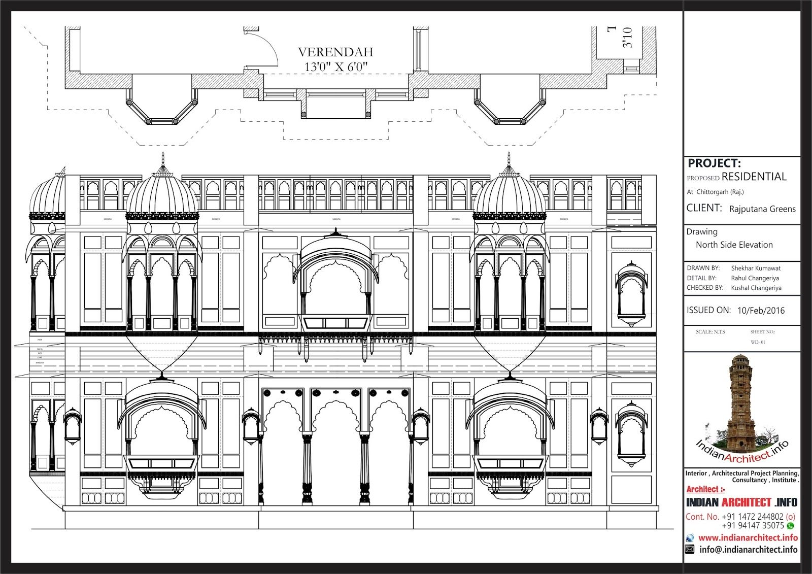 Jaisalmer Stone Elevation : Rajputana haveli sqft indian architect