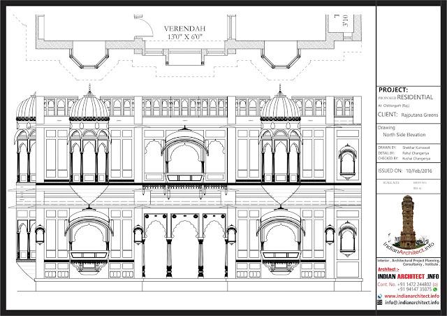 Jaisalmer Stone Elevation : Rajputana haveli sqft indian architect