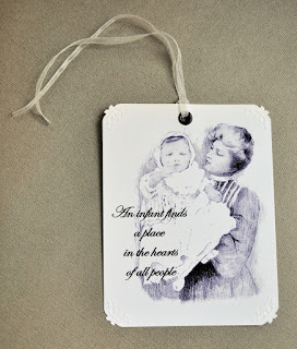 baby gift tag design image