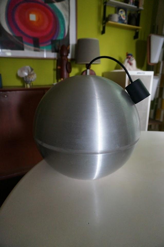 70s aluminium lamp vintage design