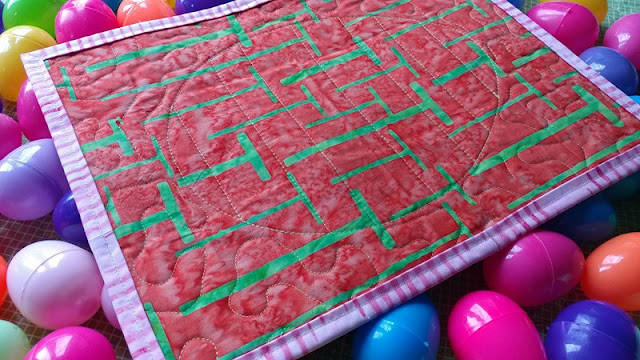 Easter egg mini quilts with Island Batik fabrics