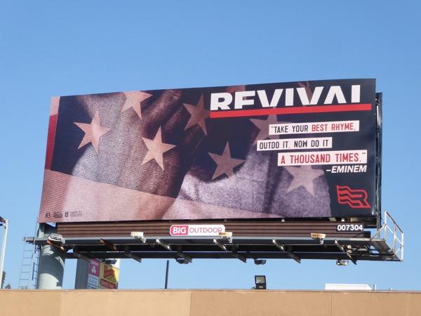 Eminem Revival album billboard