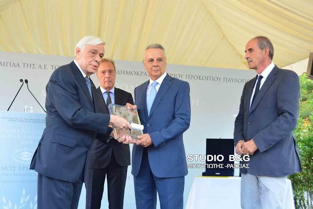 """Παρουσία του Προέδρου της Ελληνικής Δημοκρατίας και πλήθος προσωπικοτήτων τα βραβεία """"Μαριάννα Β. Βαρδινογιάννη"""" στην Ερμιονίδα"""