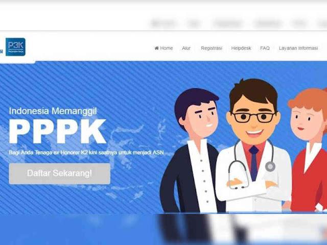 Website Sistem Seleksi Calon Aparatur Sipil Negara (SSCASN) untuk PPPK Bisa Diakses
