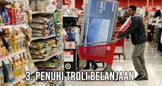 Penuhi troli belanjaan adalah Kegiatan Menyenangkan Pengganti Olahraga
