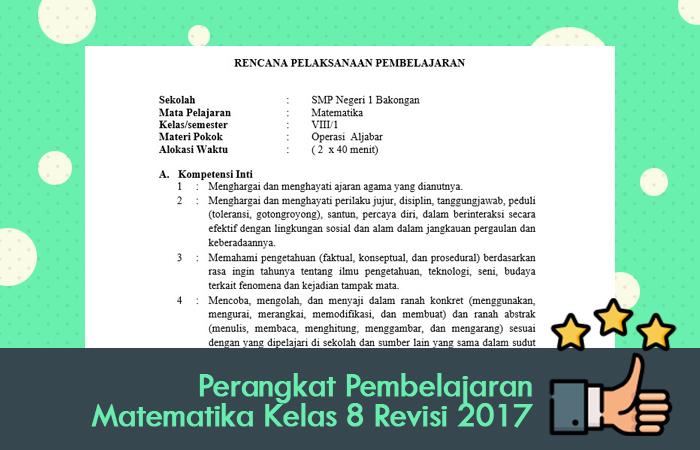 Perangkat Pembelajaran Matematika Kelas 8 Revisi 2017