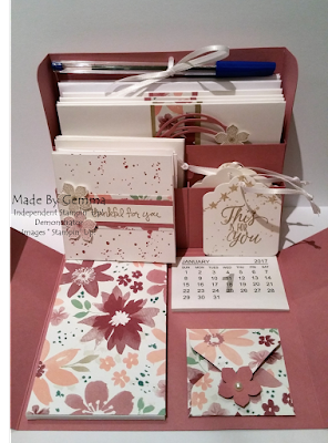 Stampin'Up! blooms and bliss box inside view