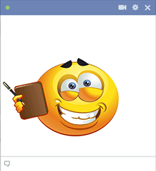 Emoticon with notebook