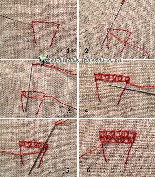Объемная вышивка «Зонтик» (6)