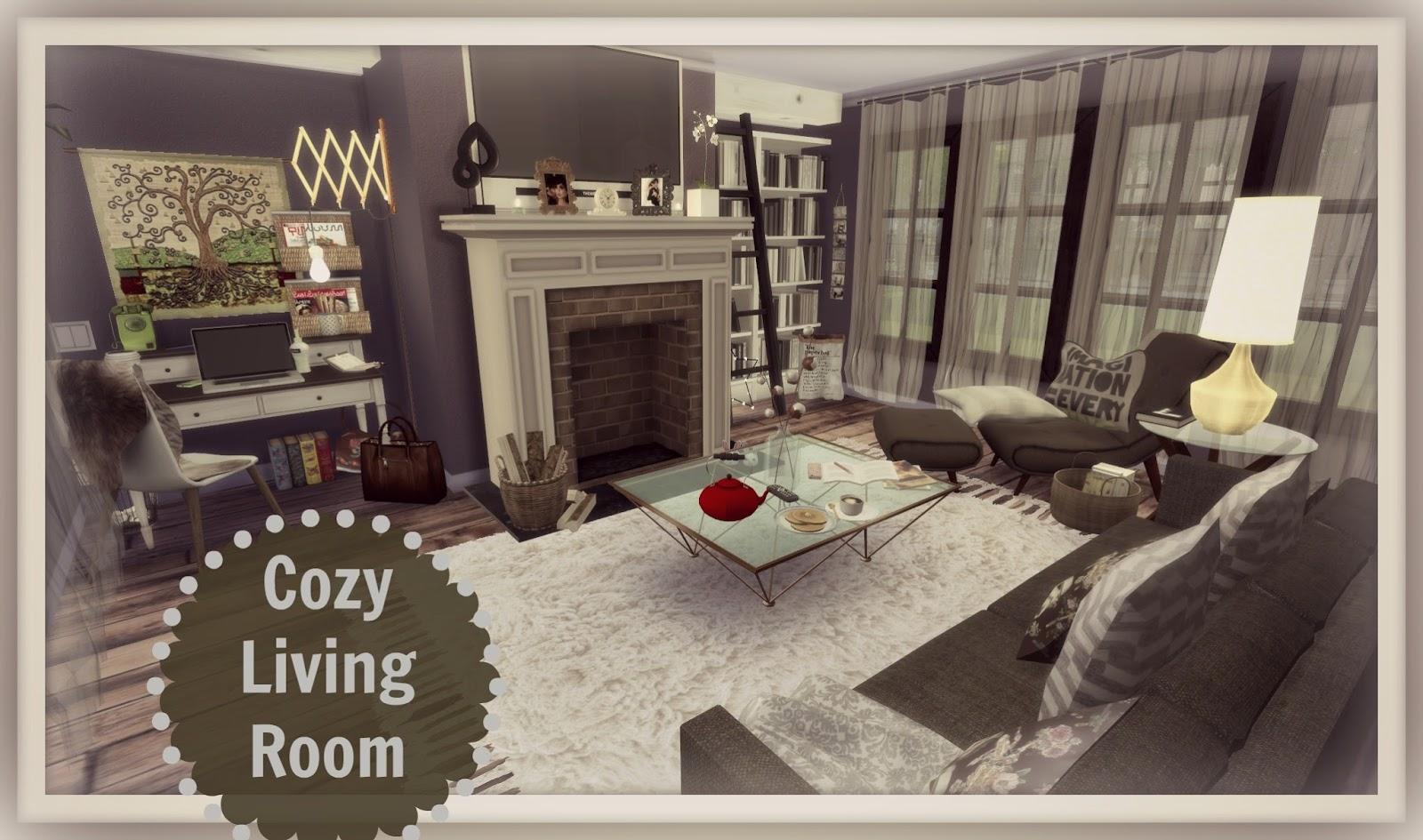 Sims 4 - Cozy Living Room - Dinha