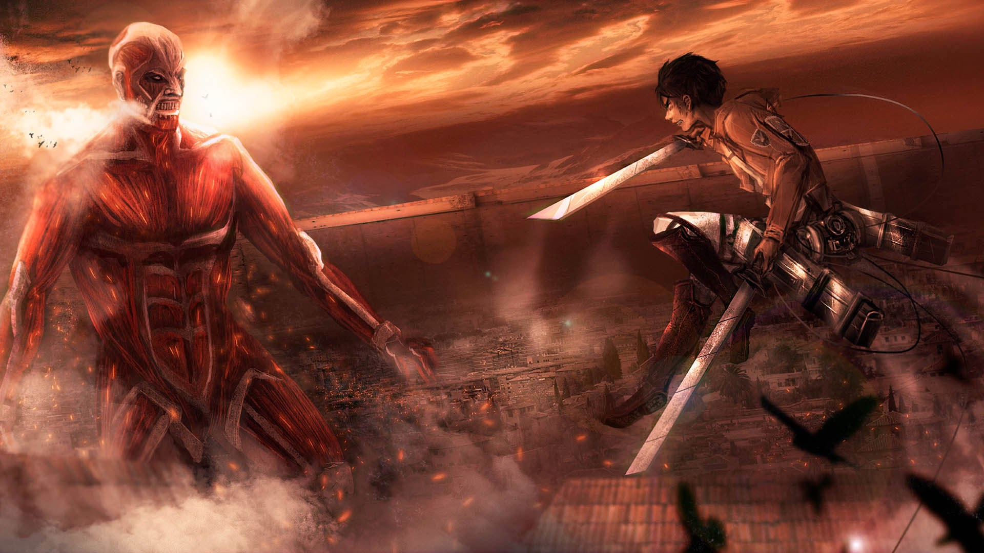 Colossal Titan Eren Jaeger 2t Wallpaper HD