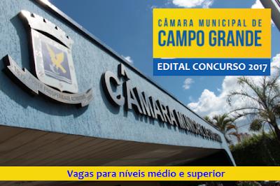 Apostila Câmara de Campo Grande MS - Nível médio e Superior