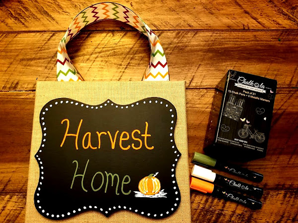 Easy DIY Fall Decor with Chalkola Chalk Markers + Chalkola Marker Set #Giveaway
