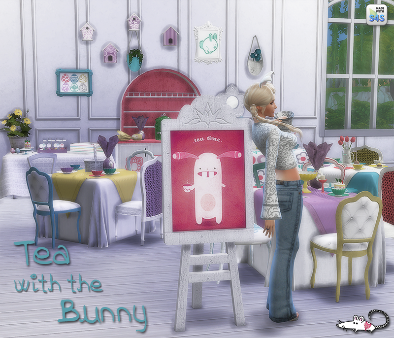 Christmas Decorations On Sims 3: My Sims 4 Blog: Tea With The Bunny Decor Set By LoveratSims4