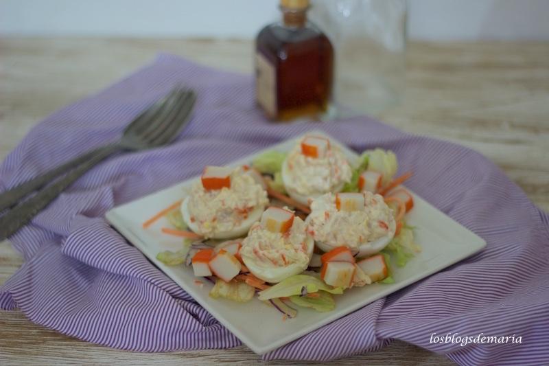 Huevos rellenos ligeros, receta asaltablogs