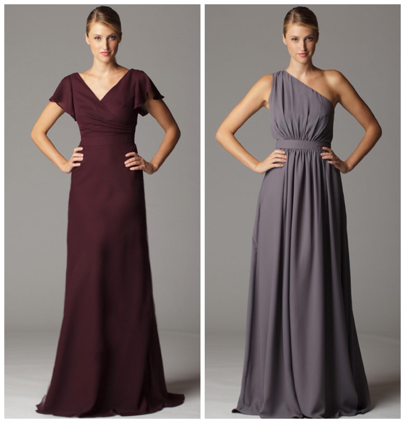 Vestidos Damas De Honor Color Vino Spa On The Go