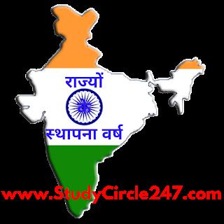 भारत के सभी 29 राज्यों के स्थापना वर्ष की सूची। All States Foundation Day & Year