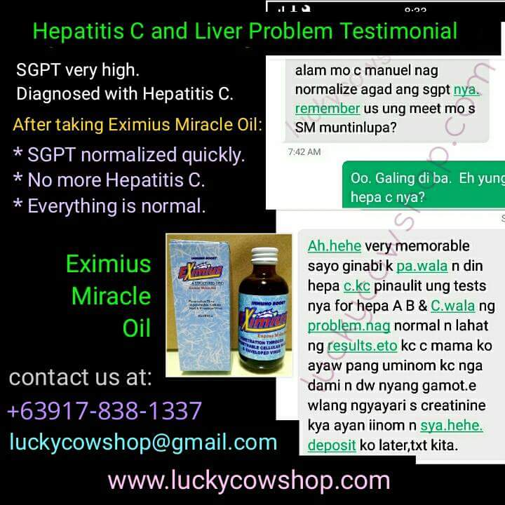 eximius oil hepatitis testimonial high sgpt
