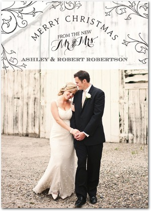 This Is A Great Card For Newly Married Christmas Cards Are Use Of Those Wedding Pictures