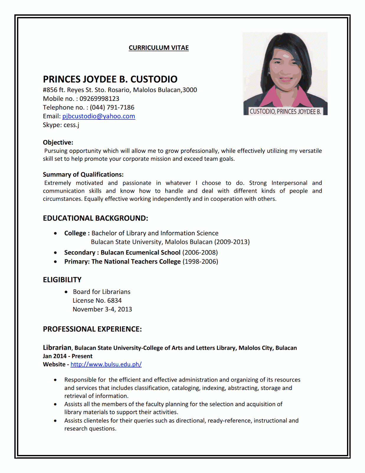 resume sample first job sample resumes - Sample Picture Of A Resume