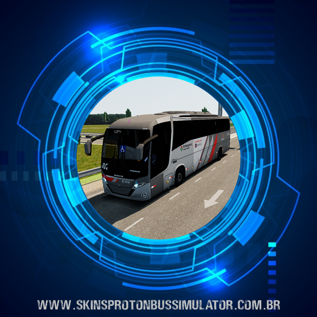 Skin Proton Bus Simulator Road - New Vissta Buss 360 MB O-500RS BT5 Viação Osasco