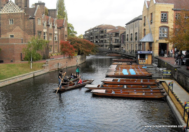 río Cam en Cambridge