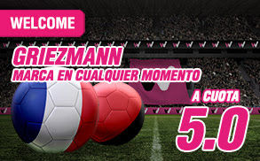 wanabet supercuota 5 Griezmann marca Francia vs Albania Euro2016 + 150 euros codigo JRVM 15 junio