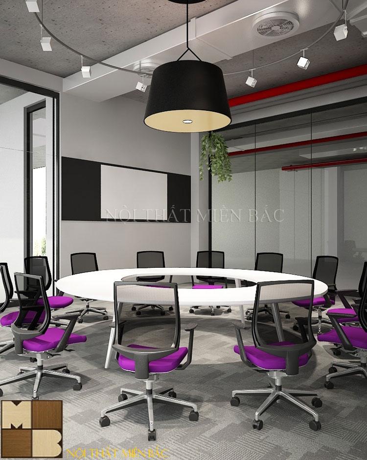 Bàn ghế phòng họp hình tròn tăng tính tương tác