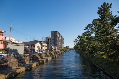 Ayasegawa River, Matsubara-danchi, Soka City, Saitama