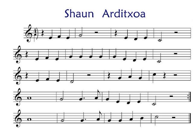 Banda Sonora - La oveja Shaun partitura