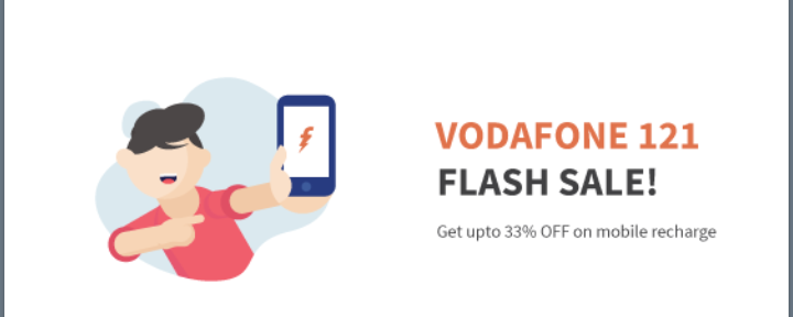 Freecharge Latest offers | Vodafone 121 Flash sale | Get